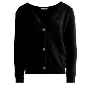 Lotz & Lot STEFFIE CARDIGAN - BLACK ONE SIZE