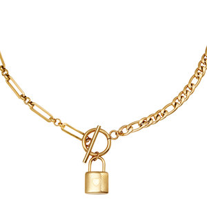 Lotz & Lot NECKLACE CHAIN&LOCK - GOLD