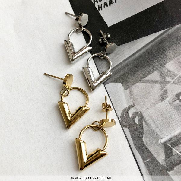 Go Dutch Label CLASSIC V EARRING - GOLD