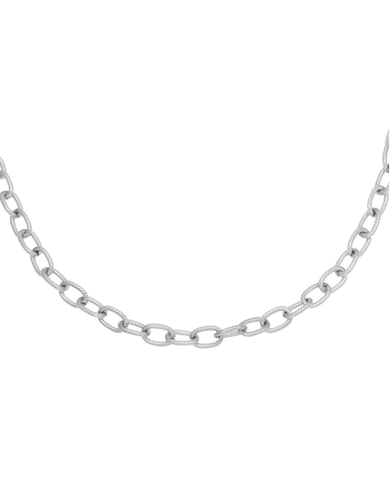 Lotz & Lot CHISELED CHAIN NECKLACE - SILVER