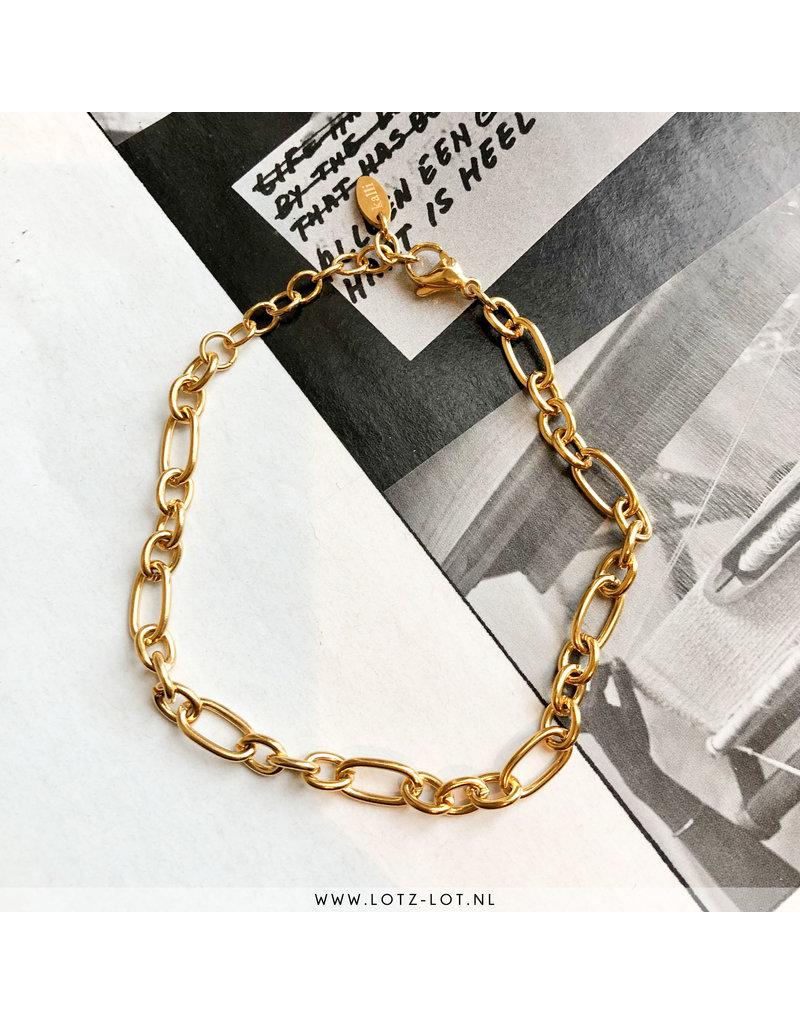 Kalli Kalli DENSY BRACELET OVAL CHAINS - GOLD