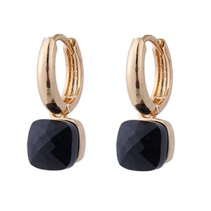 Go Dutch CLAIRE EARRING - GOLD/BLACK