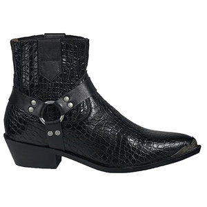 Dwrs Label CATANIA WESTERN CROCO BOOTS - BLACK