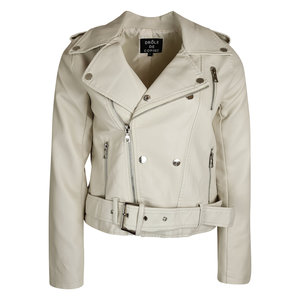 Lotz & Lot NOOR BIKER JACKET - BEIGE