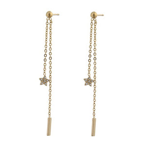 Go Dutch STARRY CHAIN EARRING - GOLD