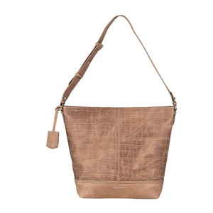 Burkely CROCO CAIA HOBO - TAUPE