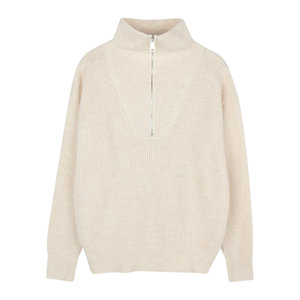 Lotz & Lot EVA ZIPPER KNIT - BEIGE