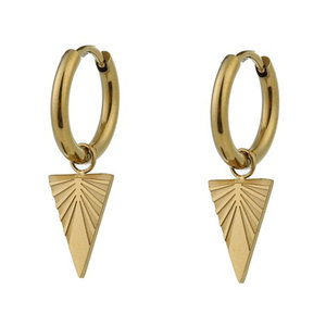 Go Dutch Label TRIANGLE EARRING - GOLD
