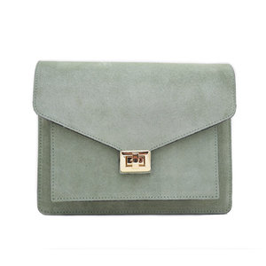 Fique the label BEAU BAG - LIGHT GREEN/GOLD