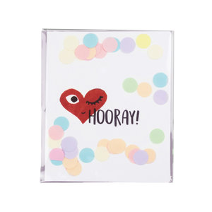 The Gift Label CONFETTI CARD - HOORAY