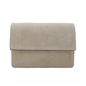 Fique the label ALEX BAG - BEIGE/SILVER