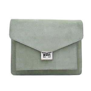 Fique the label BEAU BAG - LIGHT GREEN/SILVER