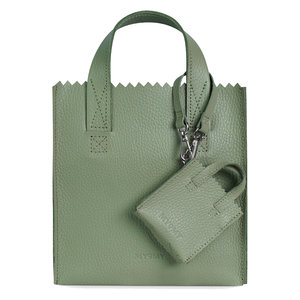 Myomy MINI SQUARE SHOPPER - RAMBLER GREEN