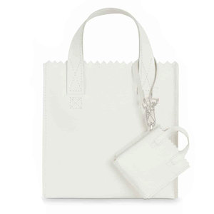 Myomy MINI SQUARE SHOPPER - OFF WHITE