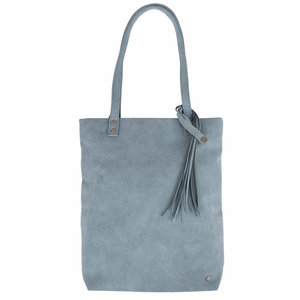 Zusss IRIS BASIC SHOPPER - BLUE/ GRAY