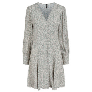 Y.A.S IZZY FLOWER DRESS - OLD GREEN