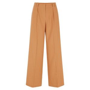 Y.A.S CARLA WIDE PANTS - CAMEL