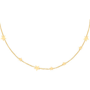 Lotz & Lot ROW COINS STAR NECKLACE - GOLD