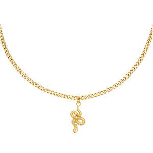 Lotz & Lot SHINY SERPENT NECKLACE - GOLD