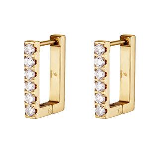 Lotz & Lot DIAMOND RECTANGLE EARRING - GOLD