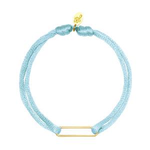 Lotz & Lot BRACELET SATIN CLIP - SOFT BLUE/GOLD