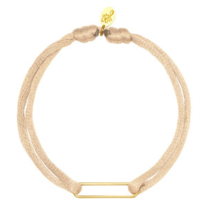 Lotz & Lot BRACELET SATIN CLIP - SOFT PINK/GOLD
