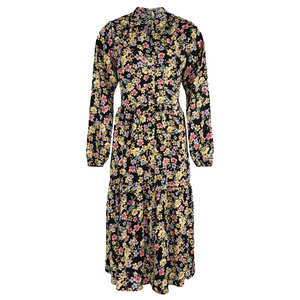Rut & Circle ZANDRA FLOWERS DRESS - BLACK