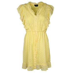 Colourful Rebel CELINE EMBROIDERY DRESS  - YELLOW