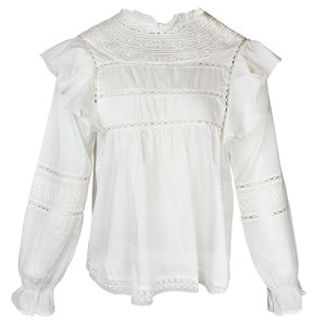 Lotz & Lot INGE BLOUSE - WHITE