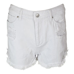 Colourful Rebel QUIN RIPPED DENIM SHORTS - WHITE