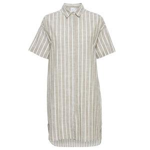 Ichi GINNY BLOUSE DRESS - BEIGE