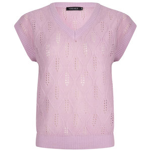 Ydence KNITTED TOP LYNN - SOFT LILAC