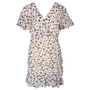 Lotz & Lot KATY FLOWER DRESS - BEIGE/PURPLE
