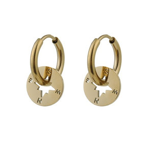 Go Dutch Label COMPASS EARRING - GOLD