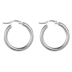 Go Dutch Label ROUND S HOOPS - SILVER