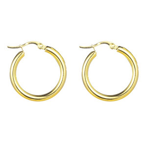 Go Dutch Label ROUND S HOOPS - GOLD