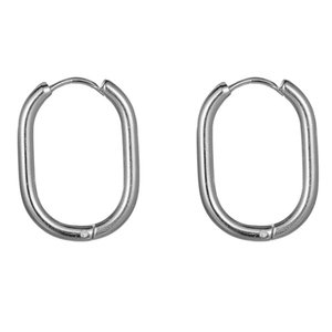 Go Dutch Label OVAL HOOPS - SILVER