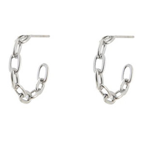 Go Dutch Label CHAIN HOOP - SILVER