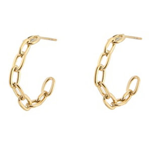 Go Dutch Label CHAIN HOOP - GOLD
