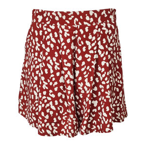 Colourful Rebel KENDALL LEOPARD SHORT WOMAN - RED/WHITE