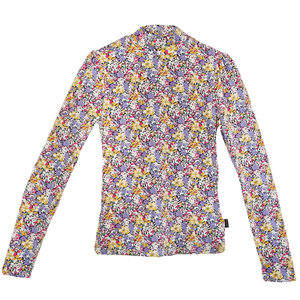 Colourful Rebel NEYO FLOWER TURTLENECK TOP - LILAC/YELLOW