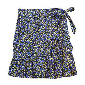 Colourful Rebel SHELBY FLOWER MINI WRAP SKIRT - PURPLE