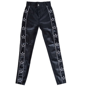 Colourful Rebel CHLOE FAUX LEATHER STAR PANTS