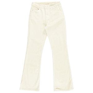 Lotz & Lot ISA RIB FLARED PANTS - CREAM