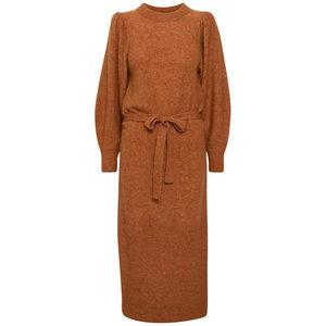 Ichi JORDAN DRESS - BOMBAY BROWN