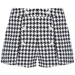 Colourful Rebel CASSIDY DOGTOOTH HIGH WAIST SHORT - BLACK/WHITE