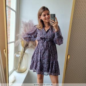 YAS RUMA SHIRT DRESS - PURPLE/BLUE