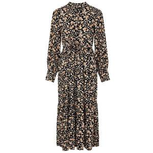 YAS EMALLA LONG DRESS - BLACK/MULTI