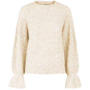 YAS NADIA KNIT PULLOVER - SAND
