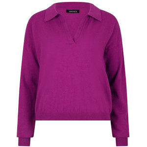 Ydence KNITTED TOP GINA - PURPLE